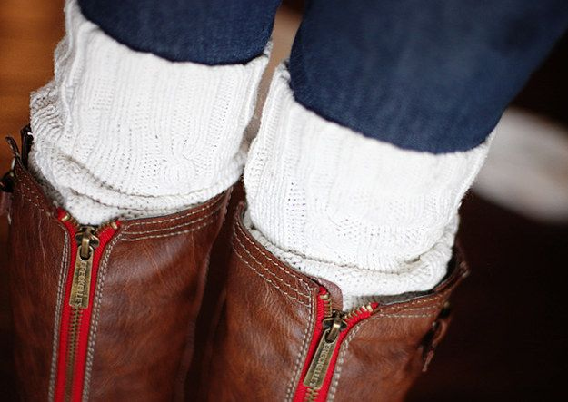 Cable-Knit Boot Socks | 34 Impossibly Cozy Fall Fashion DIYs