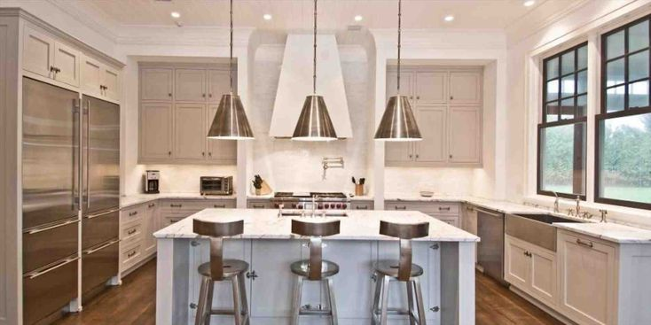 New gray kitchen cabinets with stainless steel appliances at temasistemi.net