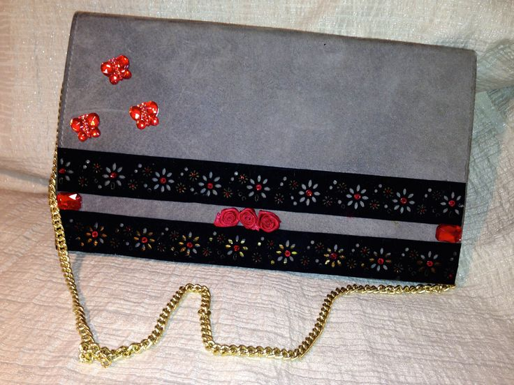 vintage handmade bag,miss leopard