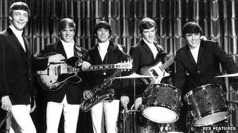 Dave Clark Five, Mike Smith, Lenny Davidson, Dennis Peyton, Rick Huxley, Dave Clark. Group from the 1960's with hits like 'Glad all Over', 'Bits and Pieces', 'Everybody Knows'. They were inducted in the Rock and Roll Hall of Fame by actor and fan Tom Hanks in 2008.