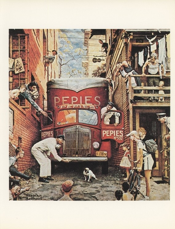 Norman Rockwell Traffic Conditions Delivery Truck In by KingPaper, $10.00