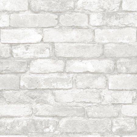 Peel and Stick Wallpaper, Grey and White Brick - Walmart.com