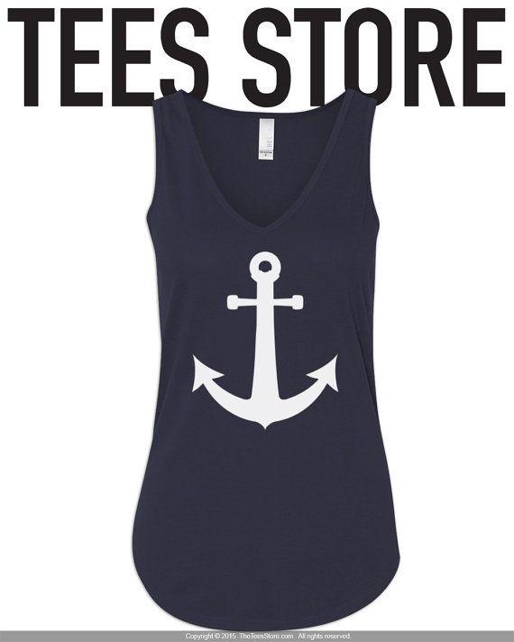 Débardeur nautique / nautique chemise / Shirt ancre / par TeesStore