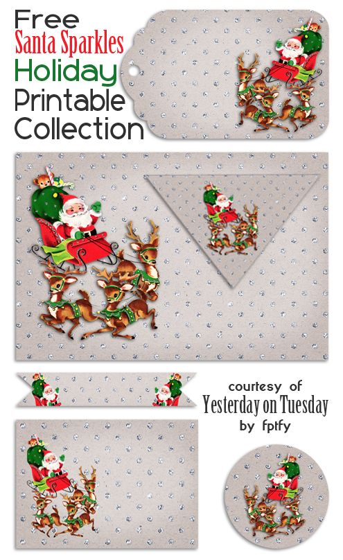 Vintage Christmas Party Printables for Christmas parties and gifts