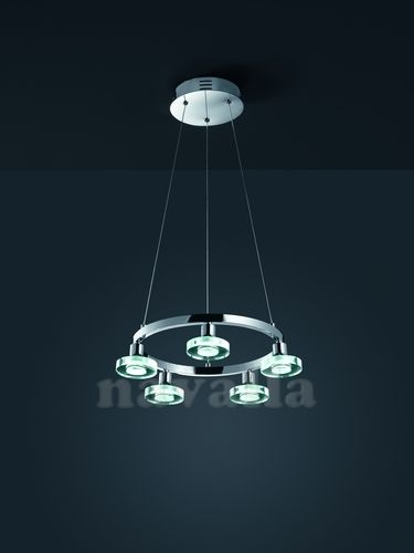 This amazing LED chandelier is an excellent choice for the living room