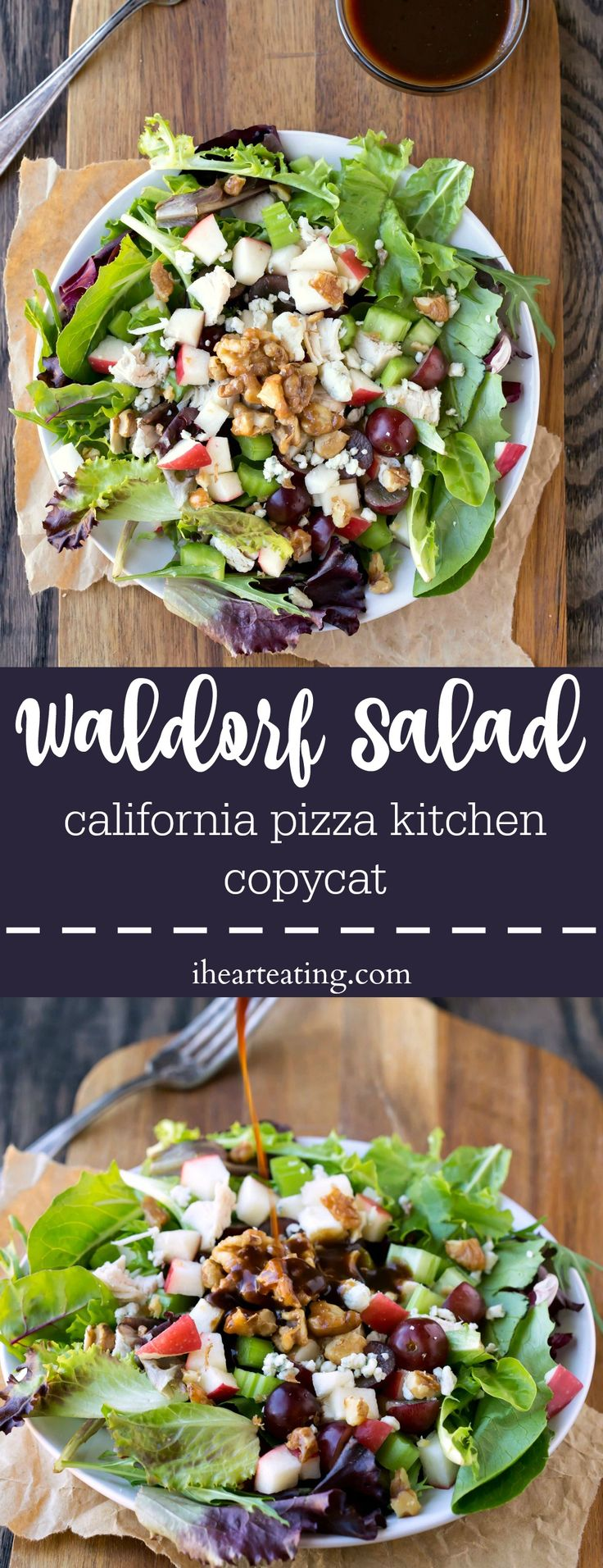 Waldorf Salad California Pizza Kitchen Copycat Recipe- might be good with honey in the dressing instead of sugar!