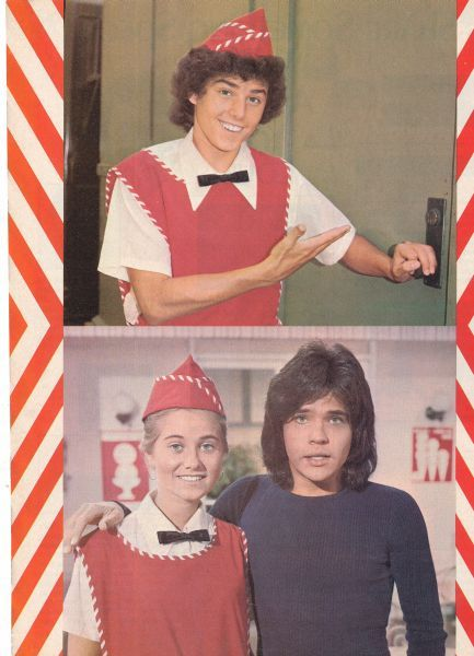"""Chris Knight, Maureen McCormick, & Michael Gray - the ice cream shop episode on the Brady Bunch. Michael Gray was also """"Shazam"""" on Saturday mornings!"""