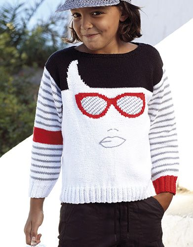 Book Kids 81 Spring / Summer | 29: Kids Sweater | White / Red / Black / Grey