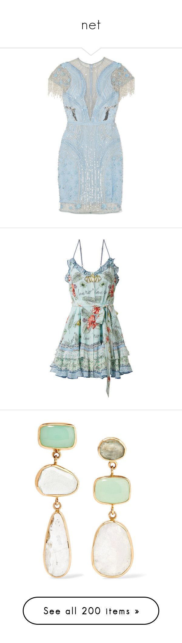 """""""net"""" by alyssa23 ❤ liked on Polyvore featuring dresses, short sparkly dresses, sparkly cocktail dresses, short sequin dress, sequined dress, blue sequin dress, mint, short green dress, mint dresses and flower dress"""