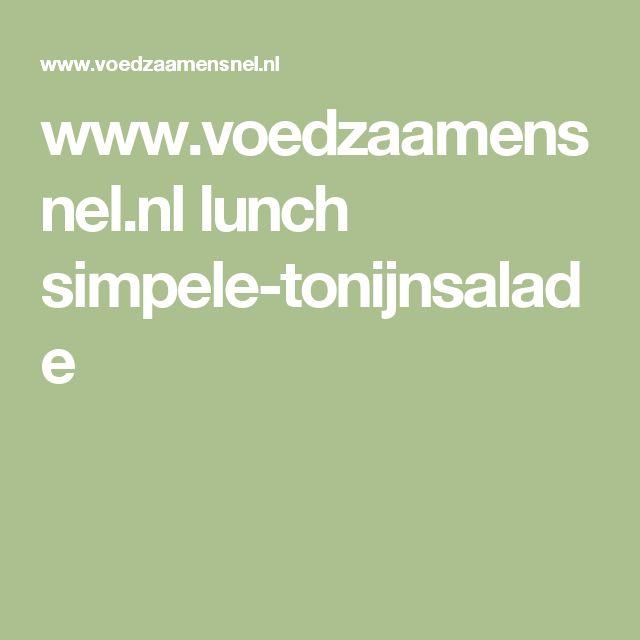 www.voedzaamensnel.nl lunch simpele-tonijnsalade