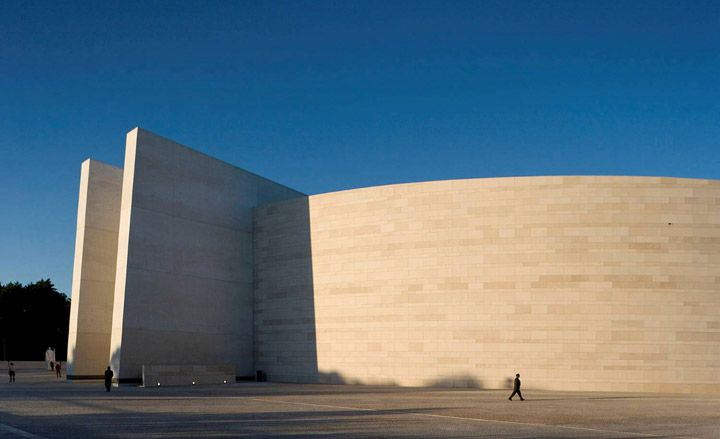 Church of the Most Holy Trinity in Fátima, Portugal. Architect Alexandros Tombazis