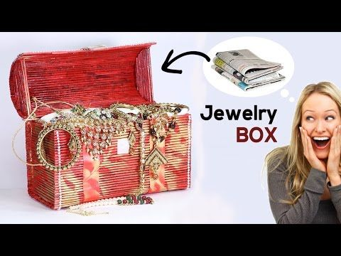 How to make jewellery box with newspaper best out of for Waste material of things