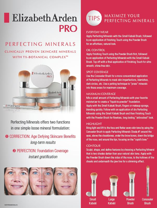Tips to Maximize your Perfecting Minerals #ElizabethArdenPROEdinburgh (P)