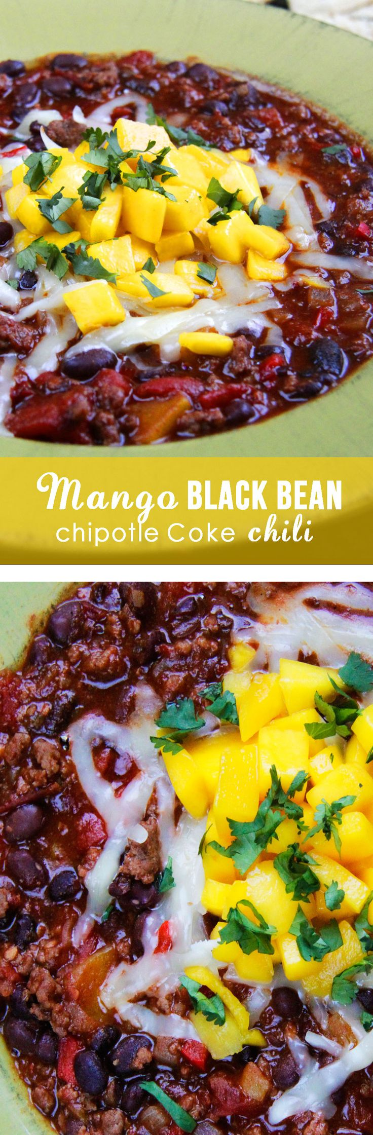 MY FAVORITE CHILI EVER!  and SO EASY!  smoky, sweet and spicy - everything a chili should be and more  - simmered with coke and mangos! | Carlsbad Cravings