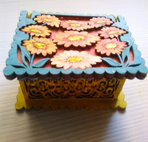 Jewelry box Painting the sea. Handmade. от irinessa на Etsy