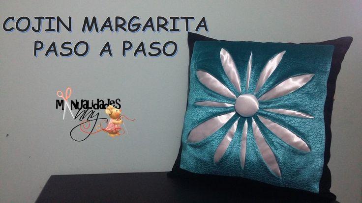CLASE VI - COJIN MARGARITA PASO A PASO | Manualidades Anny
