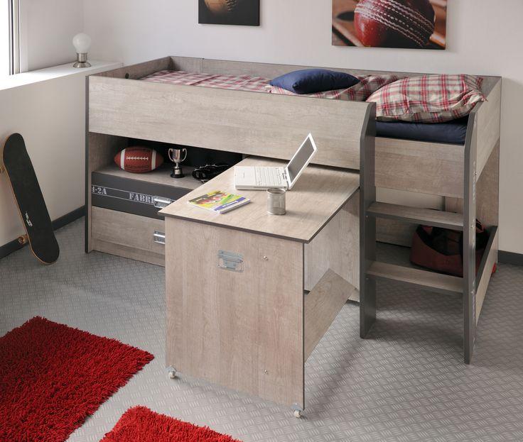 90x200 Hochbett Mit Ausziehbarem Schreibtisch Jetzt Bestellen Unter: ...
