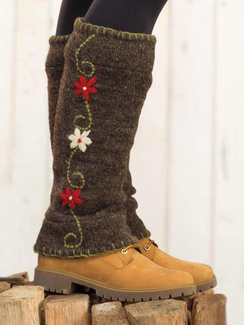 Give your Boots a brand new look. Women's Handknit Boot Sweaters: Colorful 100% wool