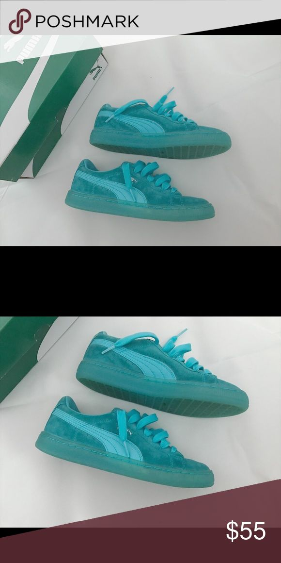 Blue Puma Suede Blue puma suedes in good condition. Puma Shoes Sneakers