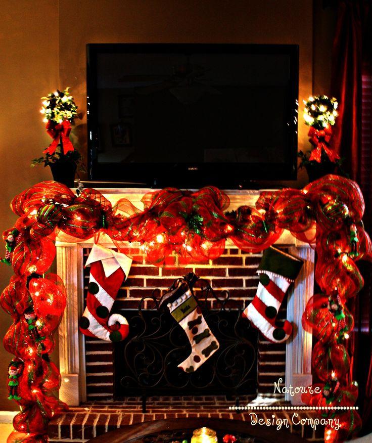 Christmas Mantle & stockings #tv