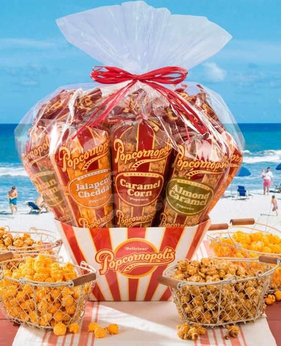 8 best popcornopolis images on pinterest gift baskets gourmet featuring a 10 cone all star lineup of popcornopolis summertime favorites this is a gourmet popcorn gift negle Gallery