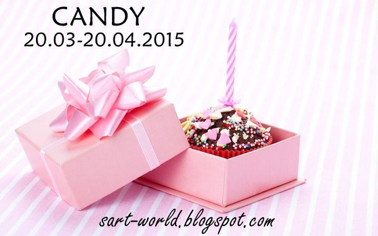 Mój własny kreatywny świat: Candy na pierwsze urodziny bloga