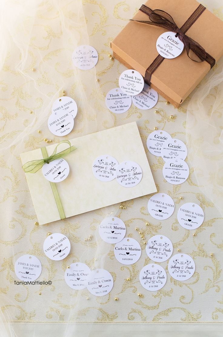 50 75 100 125 150 200 Etichette Matrimonio Personalizzabili in Carta Bianca e Testo-Bomboniera-Tag-Targhette-Chiudipacco-Invito di BolleDiCarta su Etsy