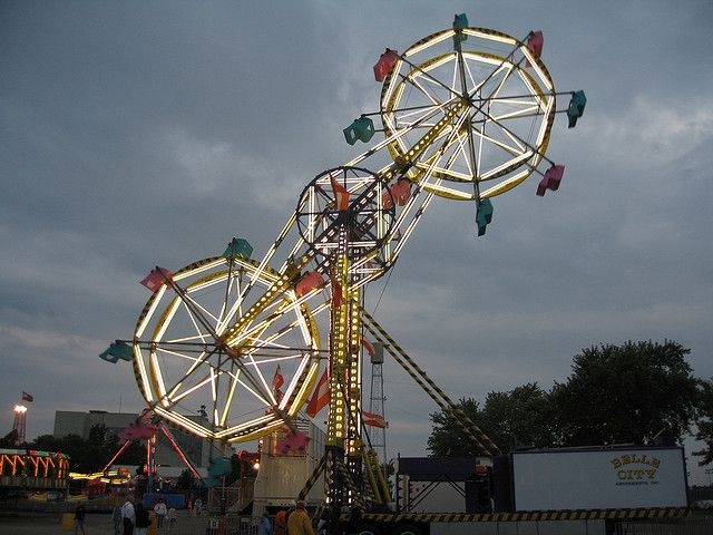 Double Ferris Wheel by cannellfan, via Flickr