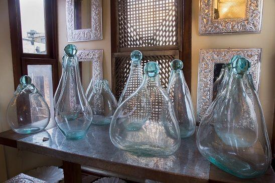 ocean blue glass vases