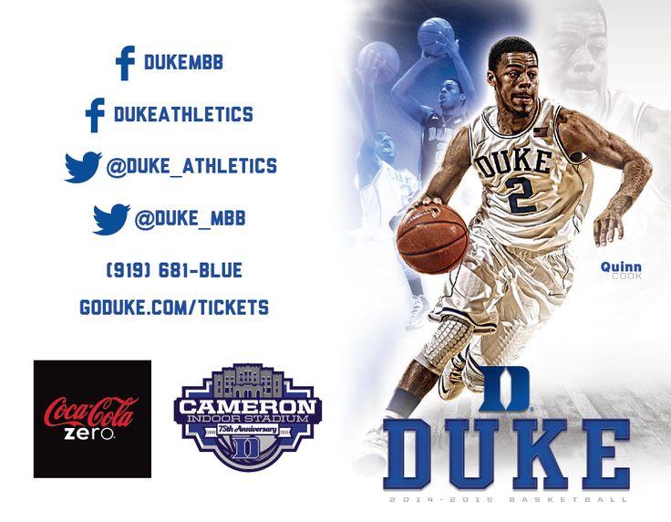 Duke Men's Basketball Schedule Card (2014-2015)
