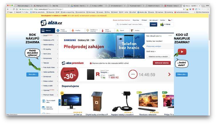 Alza desktop (kategorie a dole tipy na dárky)