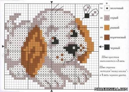 Схемы собак, зайцев и котят для вышивки - Животные - Схемы плетения бисером - Сокровищница статей - Плетение бисером украшений, деревьев и цветов, схемы мк