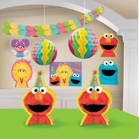 Sesame Street 1st Birthday Decorating Kit Party