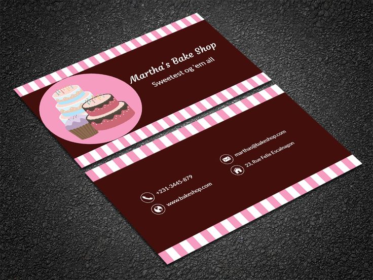 35 best free professional business card edit online and download free home bakery business card colourmoves