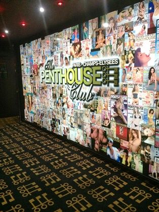 Penthouse club Champs Elysées 75008 Paris - Moquettes de laine sur mesure tissage 80% laine et 20% nylon