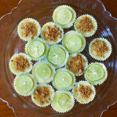 Better than the regular key lime pie!!  Mini Key Lime Pies - Gluten Free and Dairy Free from InspiredRD.com