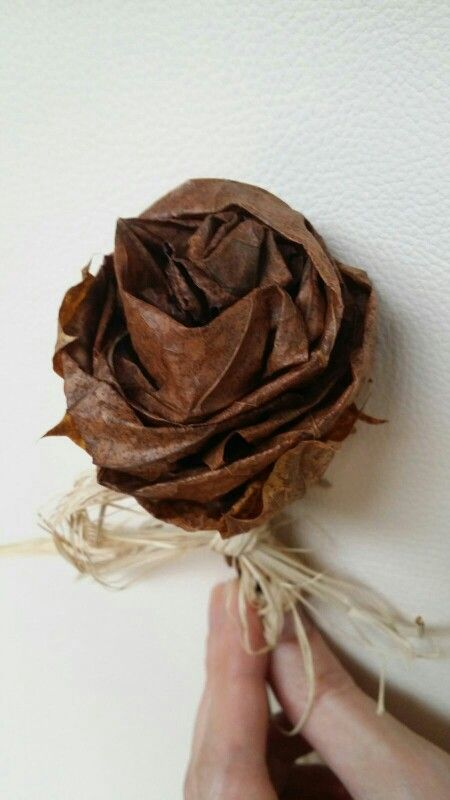 Flower From autumn leaves