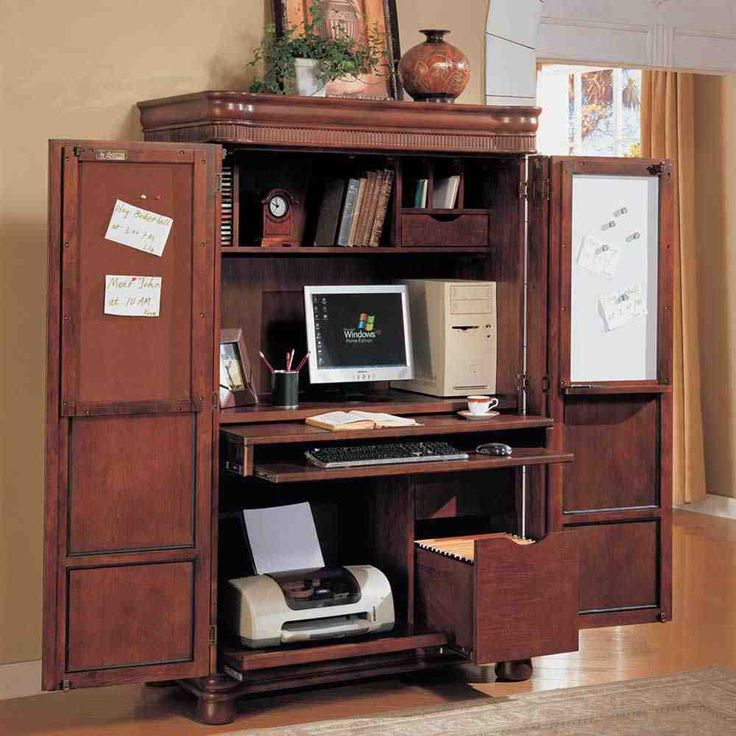 Charmant Armoire Desk: Solution To Open Space   Home Furniture Design