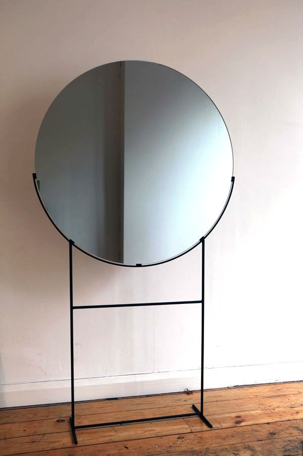 Kim Thome; Enameled Metal and Glass Standing Mirror from Her Installation, 'Works on Reflection', 2012.