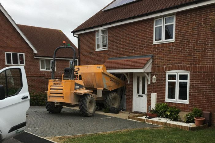 Police appeal for witnesses after man ploughs dump truck into house - The News