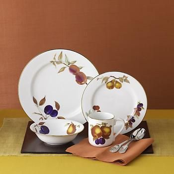 Royal Worcester  Evesham Gold  Dinnerware & 25 best Evesham Royal Worcester made in England images on Pinterest ...