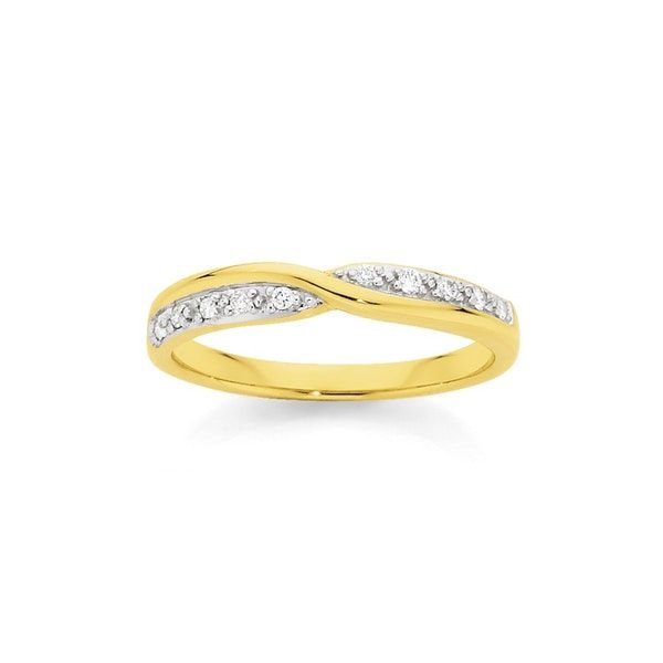 9ct Gold Diamond Twist Ring Angus Coote Wedding Engagement