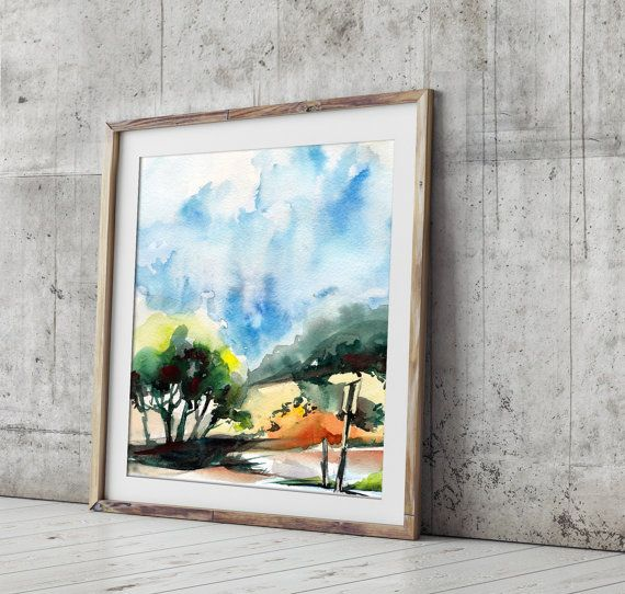 Fine Art Print Mediterranean Landscape by CanotStopPrints on Etsy