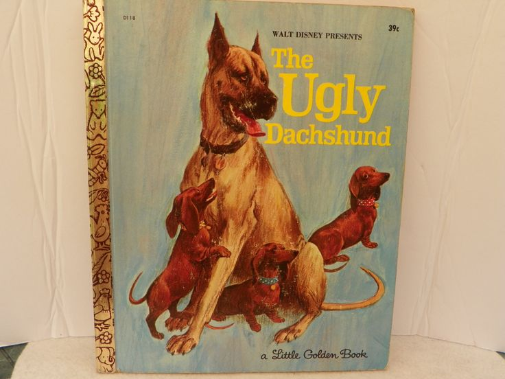Little Golden Book D118 First Edition 1966 - Walt Disney's The Ugly Dachshund - Vintage Children's Story Picture Book Kid's Bedtime Story by ShersBears on Etsy