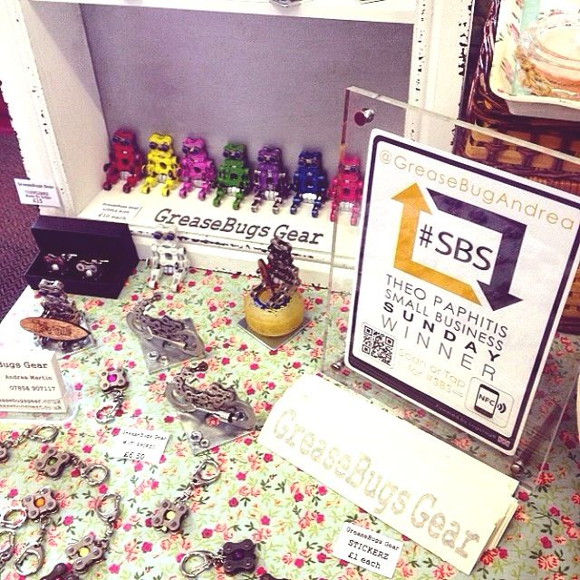 The fab #GreaseBugsGear in action at the #Padstow #craftfayre proudly displaying the #SBS winners tag #cornwall #Logotag