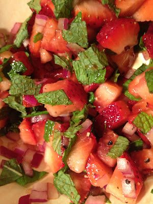 Strawberry Mint Salad from the bombshell blueprint