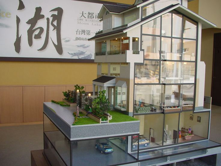 Architectural model from Zhuhai Jingwu. Would make a brilliant dollhouse.