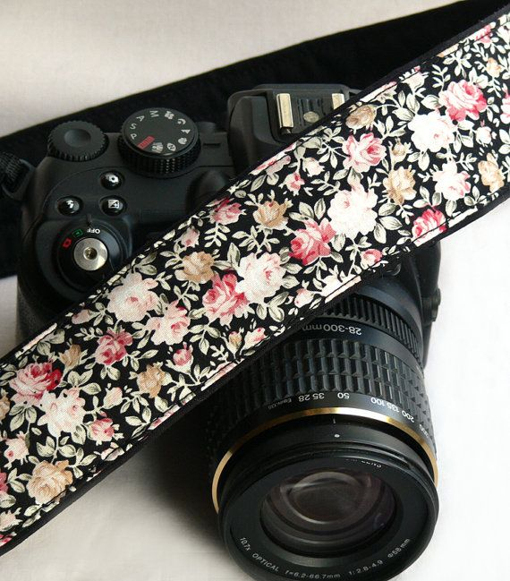 Flowers Camera Strap. dSLR Camera Strap. Canon by ChitaDesign, $29.00