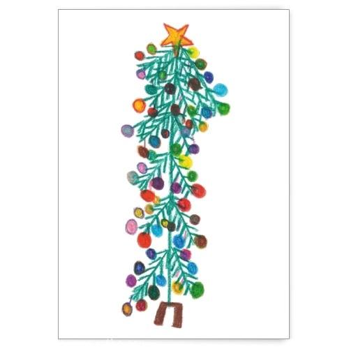 Boże Narodzenie to temat najnowszej serii kartek z rysunkami autorstwa osób z niepełnosprawnością #kartka #handmade