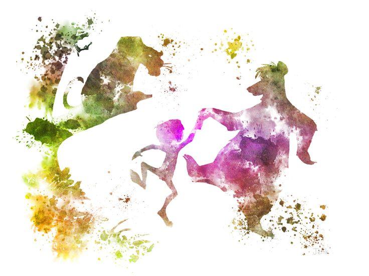 Die Dschungel-Buch-KUNSTDRUCK-Abbildung, Disney, Mogli, Balu, Baghira, Mischtechnik, Home Decor, Kindergarten, Kind von SubjectArt auf Etsy https://www.etsy.com/de/listing/198855768/die-dschungel-buch-kunstdruck-abbildung
